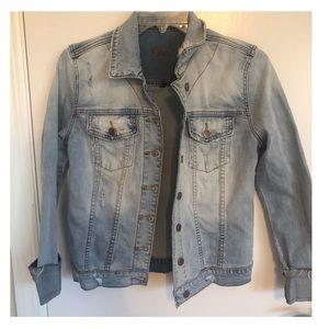 Kut from the Kloth Distressed Denim Jacket